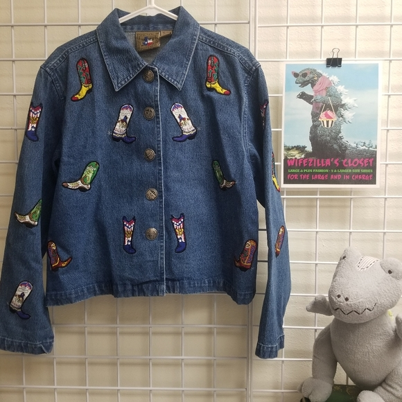 Don't Mess With Texas Blue Denim Boot Jacket - Lrg